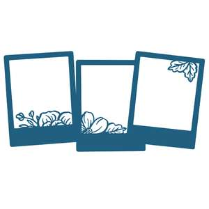 triple photo frame with flowers