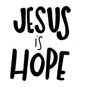jesus is hope word art