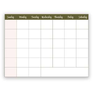 print n cut monthly calendar