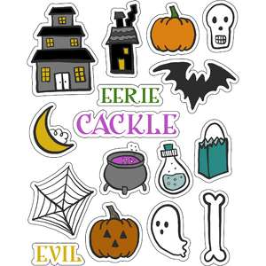ml halloween eek stickers