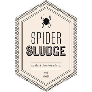 spider sludge beverage label