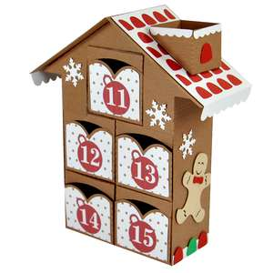 christmas advent village drawers 11-15 – gingerbread man