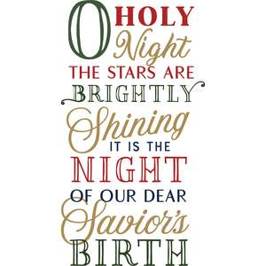oh holy night phrase