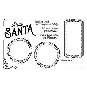 santa tray design for santa claus cookies and milk