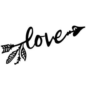 love arrow with feathers