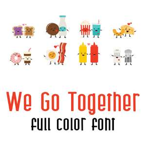 we go together full color font
