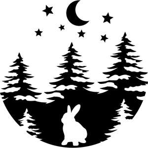 bunny in the wood