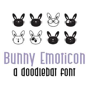 bunny emoticon doodlebat