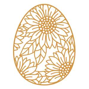 sunflower easter egg