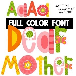 dear mother color font