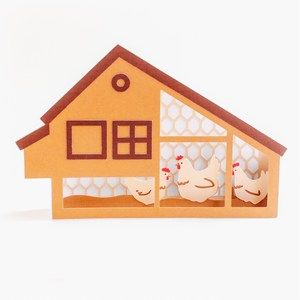 chicken coop box card
