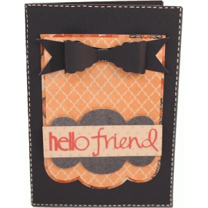 hello friend card with 3d bow