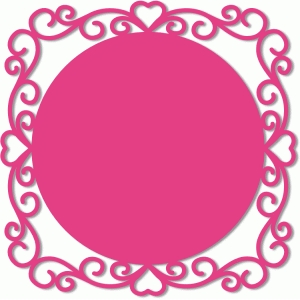 ornate circle background frame