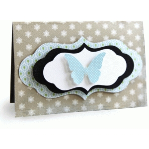 layered butterfly card - 4x6