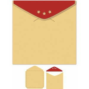 envelope stars flap 7x7 for box card