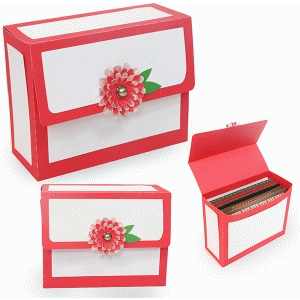 open when-10-20 a2 envelope box floral flap
