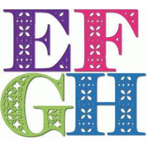 ornate monogram efgh