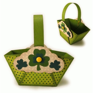 shamrocks trio mini favor basket