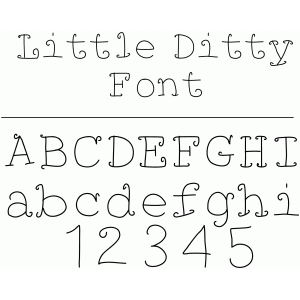 little ditty font