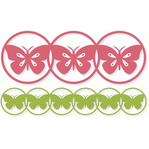 butterfly circles border