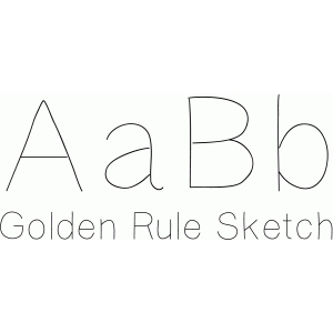golden rule sketch font