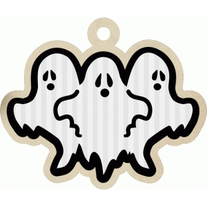 ghost halloween tag