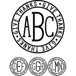 monogram type - give thanks ring