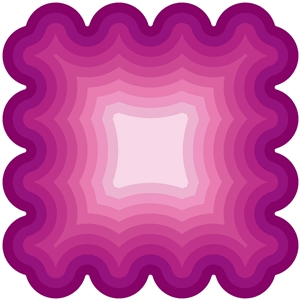inverted nested scalloped square