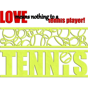 tennis borders & phrase
