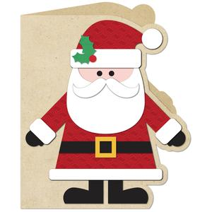 a2 santa shaped card