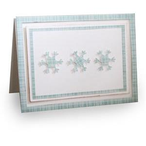 triple snowflake winter foldedcard