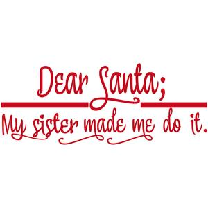 dear santa: sister/brother title