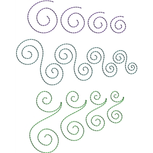 stitching templates - swirls