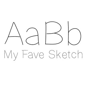 my fave sketch font