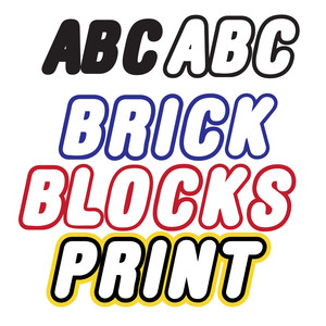 zp brick blocks print