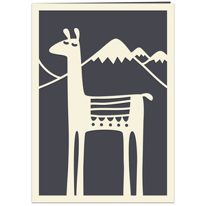 llama with blanket card