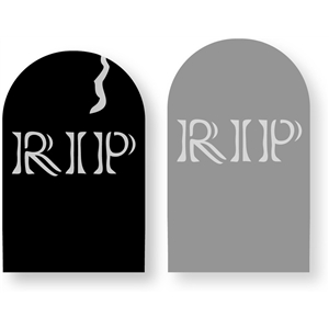 engraved rip tombstone