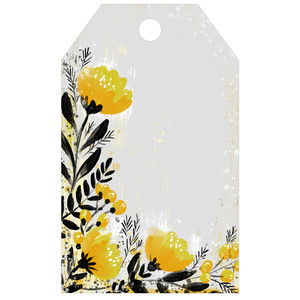 painted floral tag