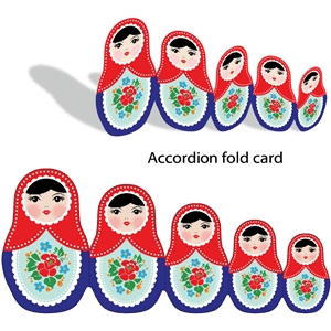 accordion fold matryoshka doll