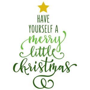 Silhouette Design Store - View Design #159097: have yourself a merry little christmas