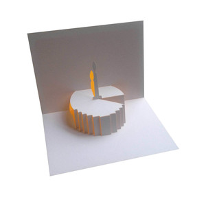 birthday cake popup card