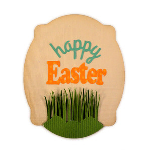 happy easter grass plaque