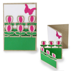 Layered card - spring