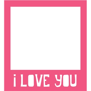 i love you polaroid phrase