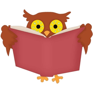 wise owl with book