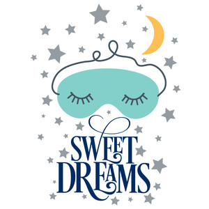 sweet dreams sleep mask quote