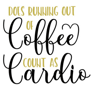running out coffee cardio