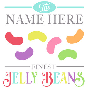custom jelly bean sign