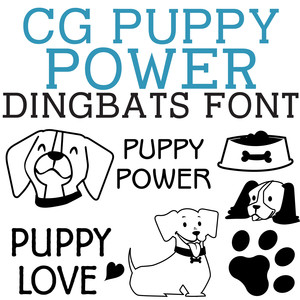 cg puppy power dingbats