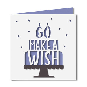 'make a wish' 60 birthday card